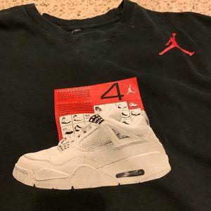 Air Jordan retro 4 shirt xxl